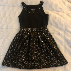 Girls small black and gold dress